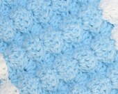 Crochet Baby Blanket Pattern Tutorial 3-D Puffy Shell / Fan Textured Reversible 3 Sizes Baby Toddler Child Blanket / Afghan by Stitcherydoo