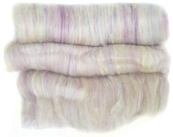handcarded batt spinning fiber 3.3 oz