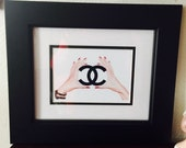 One of a Kind 11 x 13 Framed Chanel Art Print