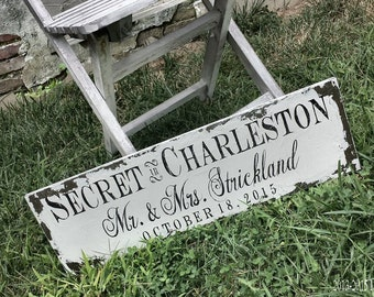 Mr and Mrs Signs | We Eloped | Eloped Sign | Secret Wedding | Just Married | Wedding Announcement | Wedding Sign | Photo Prop Wedding Cards