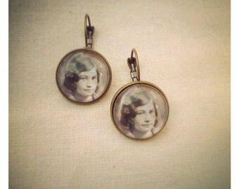 Ruthie Was a Good Girl vintage photo earrings