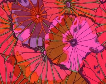 LOTUS LEAF in WINE Kaffe Fassett Fabric / PG029 Classic Collection / Westminster Fabric 1/2 yard Cotton, Quilt Craft and Apparrell fabric