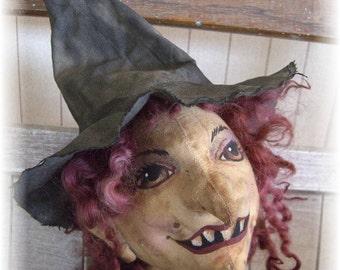 Emelda witch art doll paper pattern
