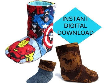 Reversible Fold Down Baby Boot Sewing Pattern- PDF tutorial