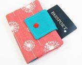 Passport Cover - Coral Dandi