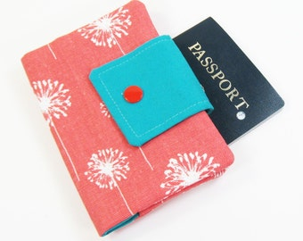 Passport Cover - Coral Dandi