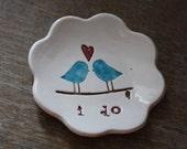 Handmade Ceramic Ring Bowl Wedding or Engagement Gift I Do