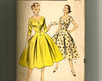 Advance Misses' Late-Day and Evening Dress Pattern 7793