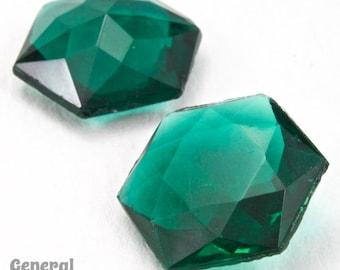 15mm Transparent Emerald Hexagon Doublet  #XS180-F