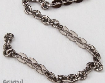 2mm x 1.5mm Gunmetal Petite Cable Chain #CCC096