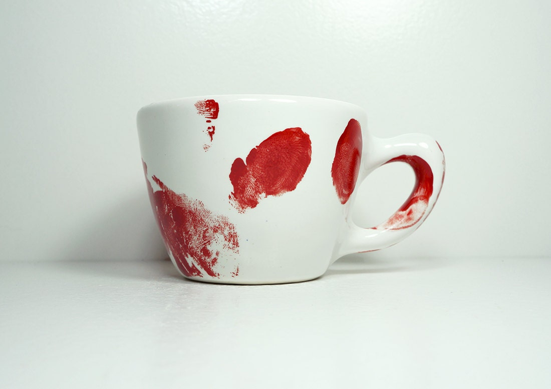 A Slightly Unsightly Murder Mug, shown here in 12oz size, glazed White. Made to Order