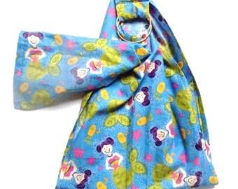 Mermaid Doll Sling - Doll Carrier - Toy Pouch - Doll Ring Sling - Baby Doll Ring Sling - Babywearing -  Toy Carrier ~ Blue Mermaid Fabric