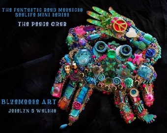 The Fantastic Bead Mosaics© Sealife Mini Series The Peace Crab