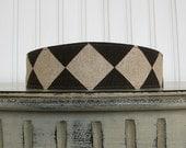 Linen Fabric Headband Womens Headband - Brown and Taupe Headband - Linen Headband - Hair Wrap