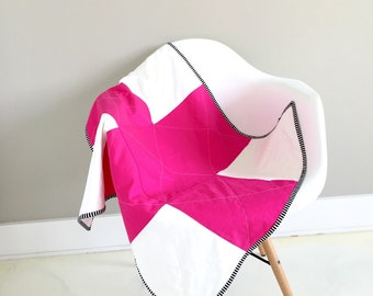 Pink and white mini minky plus quilt and play mat