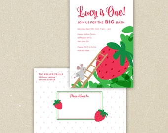 Party Invitations: The Little Mouse, the Red Ripe Strawberry, and the Big Hungry Bear
