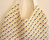 Retro Modern Pastel Dots Linen Tote Bag