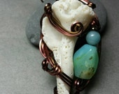 Shipwrecked Blue Peruvian Opal Necklace