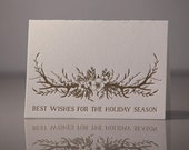 SALE Letterpress Holiday Antlers Pack of 6 Cards