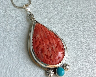 Spiny Oyster Shell Necklace, Turquoise Necklace, Spiny Oyster Necklace Turquoise Pendant, Artisant Created Pendant
