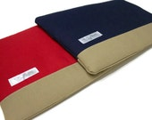 Men's 11 or 13 Inch MacBook Air Case Laptop Cove Yoga Pro 3 Sleeve - Red and Tan or Blue Canvas