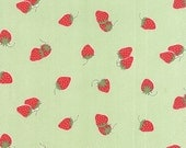 Hello Darling - Strawberries in Green: sku 55114-15 cotton quilting fabric by Bonnie and Camille for Moda Fabrics - 1 yard