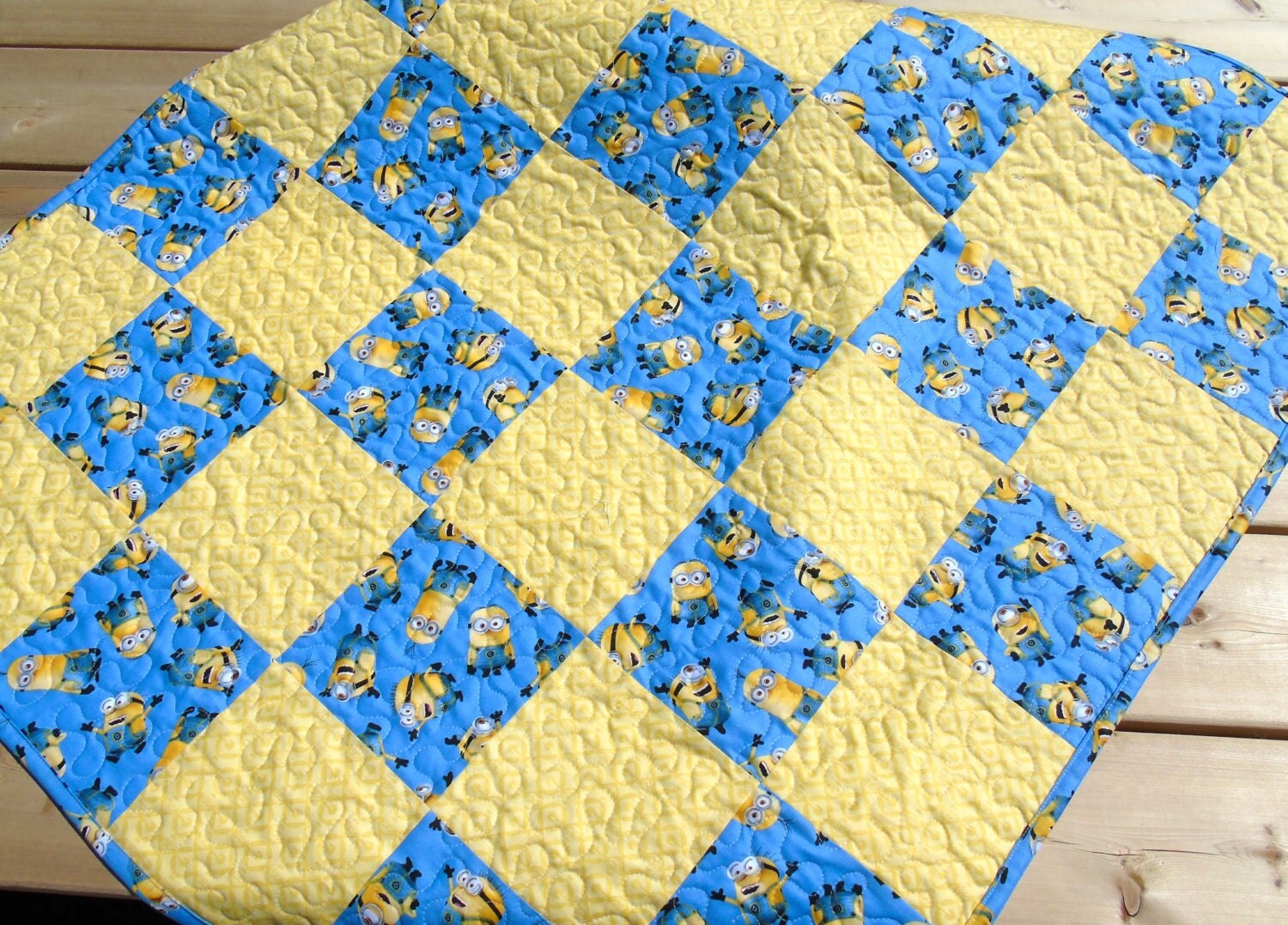 minion baby quilt boy or girl nursery bedding crib bedding