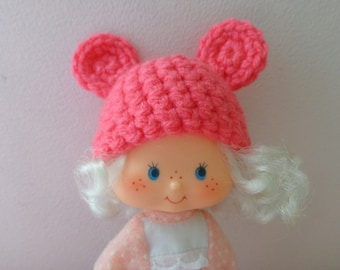 PEONY PINK bear ears for strawberry shortcake