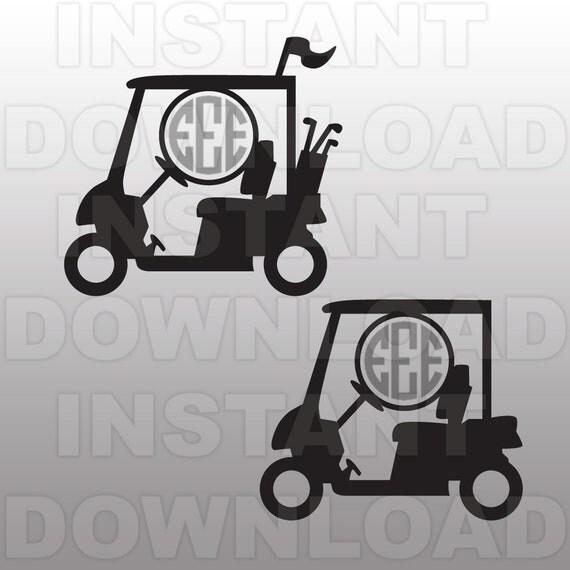 Download Golf Cart Monogram SVG File Cutting Template-Clip Art for