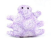 cat toy, catnip bug, catnip toy, catnip pellet toy, lilac floral fabric