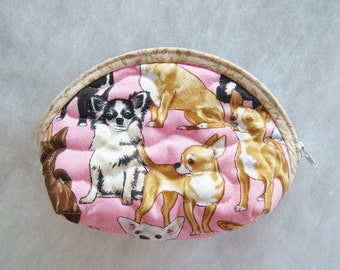 Small Quilted Purse - Chihuahua