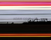 Santa Monica Pier printable download poster colourful print download pop art Los Angeles wall hanging