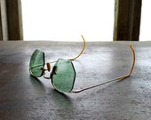 Gold Filled Green Bifocal Sunglasses