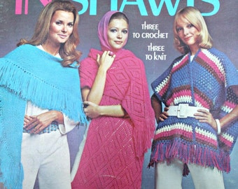 Knitting Patterns Shawls Crochet Patterns In Shawls Columbia Minerva 2524 Women Vintage Paper Original NOT a PDF