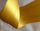 """1/4"""" Weaving Star Paper~ Shimmer Fine Gold (50 strips)"""