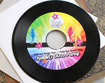 Record Disco Birthday Invitation - Design Fee