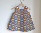 Rainbow Flower Girl Dress | Baby, Toddler, Pre-School Girls Children's Clothing | First Birthday Party Dress - Sizes Newborn to Girls Size 6