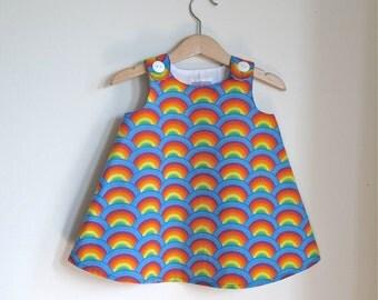 Rainbow Girls Dress | Baby, Toddler, Girls Dress | Children's Clothing | First Birthday Party Dress - Sizes Newborn to 12 -18 Months