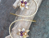 Golden Slumbers Arm Band Bracelet, Bridal Body Jewelry Arm Cuff