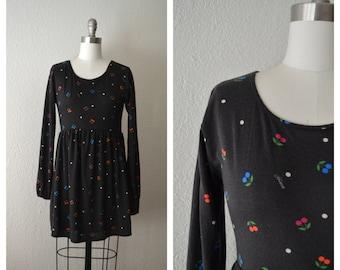 empire waist cherries short dress / dolly lolita dress (s)