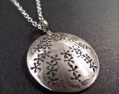"""Sterling Sand Dollar Pendant on an 18"""" Sterling Chain"""