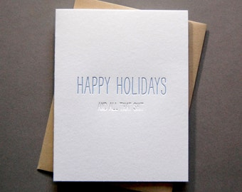 Hidden Message: Holiday Shit, single letterpress card