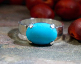 No. 76 - Sleeping Beauty Turquoise Oval Ring