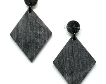 Matte Horn Earrings - Q11694