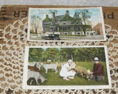 antique  Uniontown Pennsylvania  postcards American Legion Home Uniontown Pennsylvania   Summit Hotel Uniontown Pennsylvania