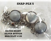 Silver Snap-Pea Button Charm Snap-Pea Fit Noosa Ginger Interchangeable Bracelet Necklace Popper Chunk Jewelry OFG Team