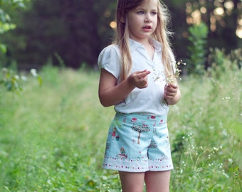 High Tide Shorts - PDF Sewing Pattern Instant Download - Sizes 2 to 14 tween