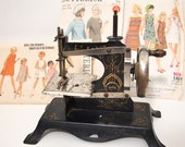 Toy Sewing Machine Vintage Pre World War ll German Childs Made in German tole art deco
