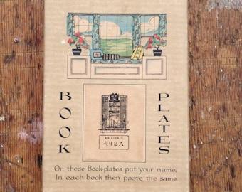 Vintage Box of Ex Libris Bookplates