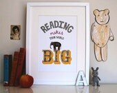 Reading Makes Your World Big Print
